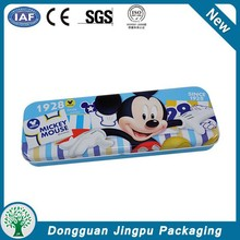 Mouse printed double layer metal pencil case