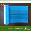 Blue plain plastic bags on roll