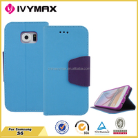 New products wallet case for samsung galaxy s6 phone case wholesales