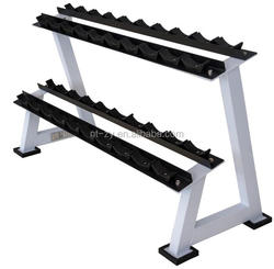 Home Gym Equipment 2- TIER Dumbbell Rack with Strong Durability and Stability