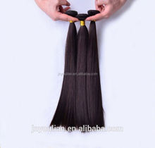 Factory direct wholesale premium quality 100% real straight human hair wholesale natural color hair weave