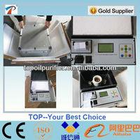 Portable transformer oil test equipment up to 100KV, meet IEC156,Integrated printer, LCD display, Multi language menu