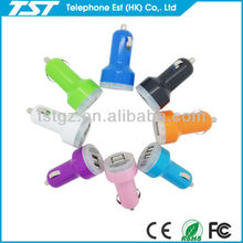 Multipurpose Colorful Dual USB Car Charger for iPad and Smart Phone