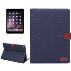 Hot Sale Plaid Texture Mix Color Leather Case for iPad Air 2
