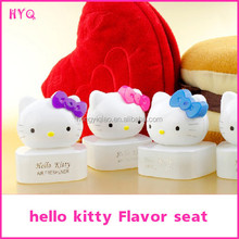 Newest auto perfume bottle seat car Hello kitty perfume seat car outlet perfume with Double-sided stickers