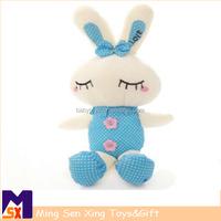 Latest baby oem cuddly pull musical singing rabbit stuffed plush toy animal
