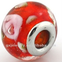 transparent glass beads for sale red