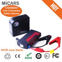 MiCARS emergency tool 12V 12000mAh multi-functional battery snap on power bank jump starter