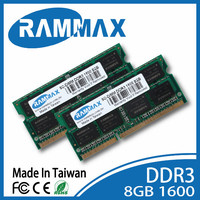 Rammax unbuffered DDR3 8GB 1600MHz pc3-12800 laptop notebook ram memory module memoria for Acer