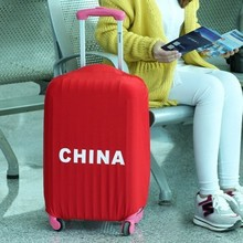Candy color elastic travel national flag luggage bag cover (S 20'')