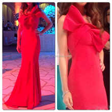 Beautiful Formal Long Sexy Women Evening Party One-shoulder Bowknot Cocktail Maxi Wedding Red Prom Dress