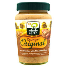Whole Earth Crunchy Original Peanut Butter with No Added Sugar 340g