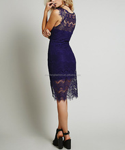 CHEFON Scalloped boat neck fashion formal work dresses women
