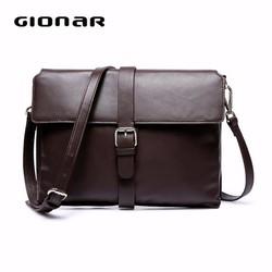 Top Quality Dark Brown Soft Sheep Leather Cross Body Bag / Sheep Leather Handbag