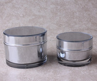 2015 high end 15g 30g 50g 80g PMMA cosmetic jar packaging