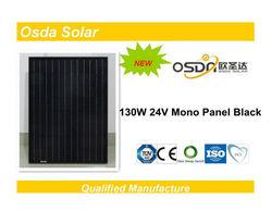 ODA130-24-M 130W 24V mono black solar panel 130W