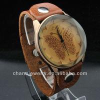 2013 Luxury Woman Diamond Butterfly Design Leather Watch WL-059
