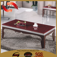 hot sale leather cover steel coffee table