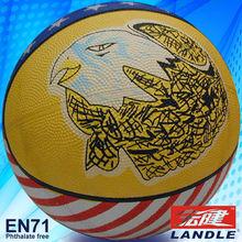 Animal design single or multicolor rubber basketball factory