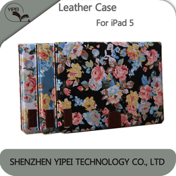 Flower Pattern Leather Case For iPad Air 5 Case Back Cover Leather For iPad Case for ipad 5