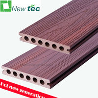 high quality rosewood co extruded wpc decking, co-extrusion bamboo composite decking