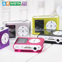 The best selling WISTA digital mini multimedia clip mp3 player