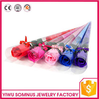 elegant soap rose flower / red rose / pink purple blue rose flower artificial flowers for lovers girlfriends and friends A040