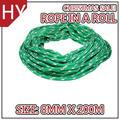 Hyropes rr0365 verde con dos y tres- filamentos de color blanco y uno- filamentos de color rojo fleck en miniatura de color caballo bozales cuerda cabestros y lleva