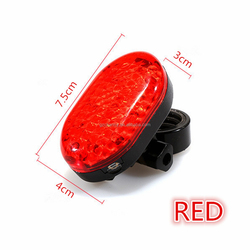 HOT sale LED Bicycle Light Cycling Bike 7 Mode Rear Tail Safety Warning + 3 Style Laser Beam Flashing lamp with mount