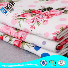 flower design nylon rayon spandex gingham fabric for bed sheets