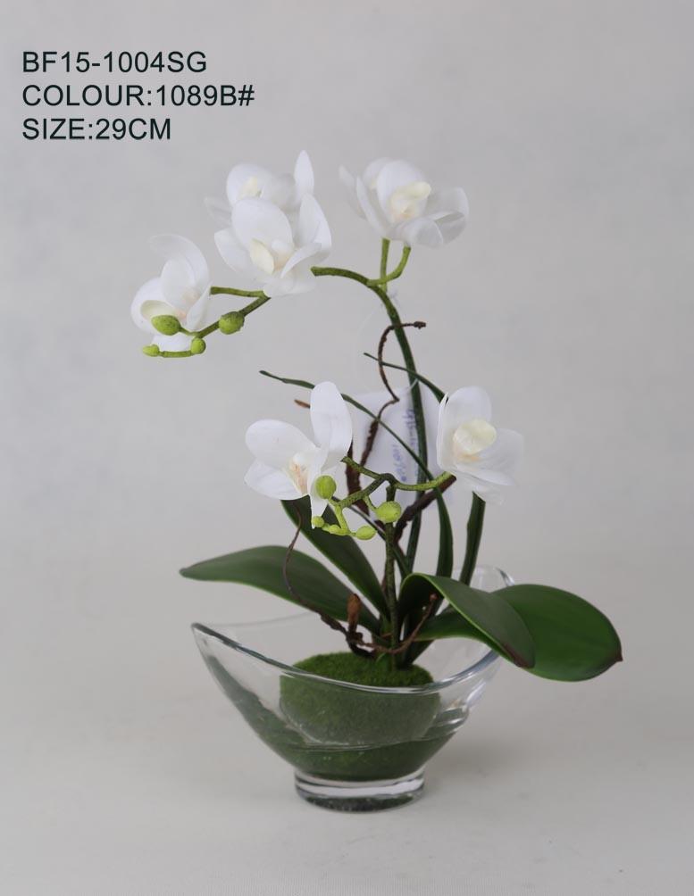 pas cher en gros latex nature tactile orchidee fleurs With déco chambre bébé pas cher avec gros pot de fleur en plastique pas cher