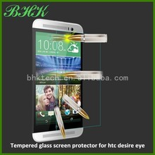 Mobile phone use delicate touch tempered glass screen protector for htc desire eye,oleophobic screen protector