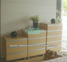 black melamined MDF cabinet wooden multi drawer