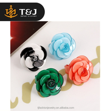Hot sale women european fashion party personalized acrylic flower ring