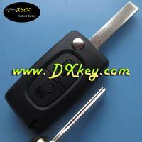 2 buttons flip smart key case for shell key citroen for key citroen with 407 blade
