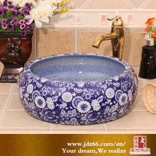 chrysanthemum pattern flower ceramic basin faucet made in China