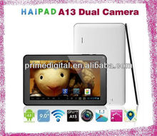 Cheapest! 9inch Allwinner A13 tablet PC Android4.0 tablets Dual Camera 512MB RAM 8GB ROM Multi Point Touch capacitive screen