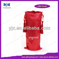 Satin wine puch with tassel from china manufactuer