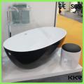 De couleur noire baignoire surface solide, de forme ovale bain de trempage