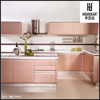 solid wood kitchen cabinet laminated chip board metal coated plywood