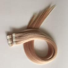 2015 new product pu tape hair extensions raw virgin slavic hair