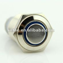 F0268 16mm LED metal button switch, waterproof button switch