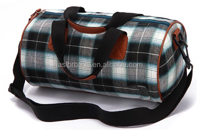 Ripstop motif impression de coton sac de sport pour homme