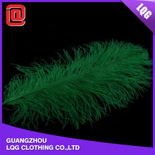 Different ostrich feather decorations