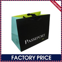 Factory price custom luxury paper shopping bag with ribbon bow tie