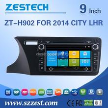 car dvd player gps for Honda CITY 2014 LHR support GPS+Bluetooth+Radio+SWC+Digital TV+3G internet+WIFI+ATV+DVR