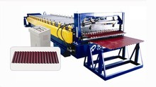 2015 whole set of corrugated sheet roll forming machine