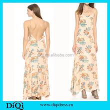 Womens clothing summer hawaiian print dress chiffon long frock design 2015 dresses for women