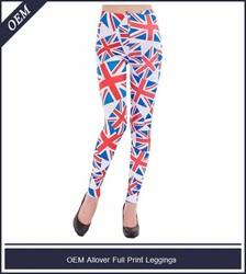 Custom all over sublimated plag print galaxy girls leggings