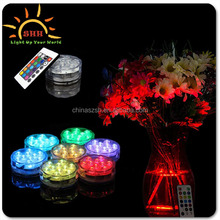 Wedding Supplies Remote Floralyte RGB Submersible 10 LED Aquarium Base Light